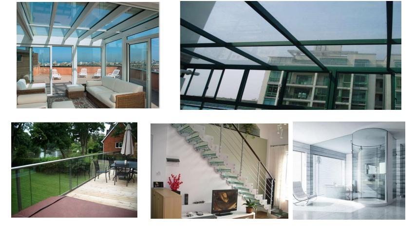 heated tempered laminated glass for building glass factory price